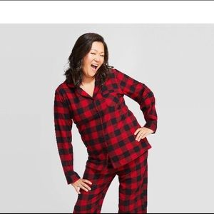 Red flannel Pijama Top
